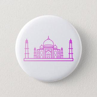 Badge Rond 5 Cm Points de repère - bouton du Taj Mahal