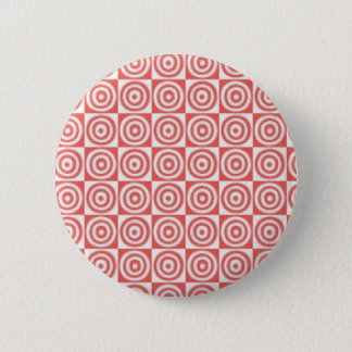 Badge Rond 5 Cm Points rouges et blancs