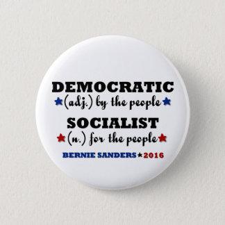 Badge Rond 5 Cm Ponceuses socialistes Democratic de Bernie