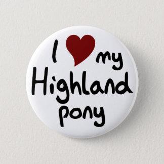 Badge Rond 5 Cm Poney des montagnes