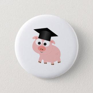 Badge Rond 5 Cm Porc mignon d'obtention du diplôme