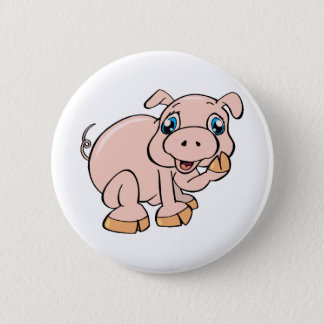 Badge Rond 5 Cm Porcin doux