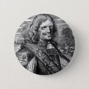 Badge Rond 5 Cm Portrait de pirate de Henry Morgan