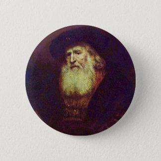 Badge Rond 5 Cm Portrait d'un vieil homme barbu par Rembrandt