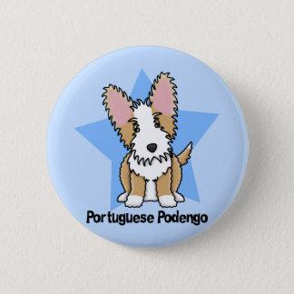 Badge Rond 5 Cm Portugais Podengo de fil d'étoile de Kawaii