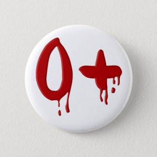 Badge Rond 5 Cm Positif du groupe sanguin O