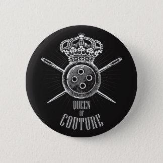 Badge Rond 5 Cm Pour les personnes qui aiment coudre : Reine de