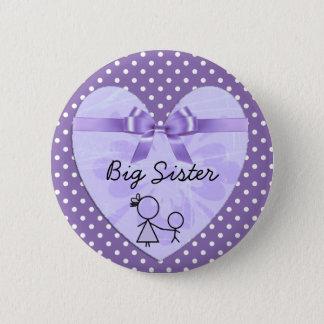 Badge Rond 5 Cm Pourpre de grande soeur et bouton de point de