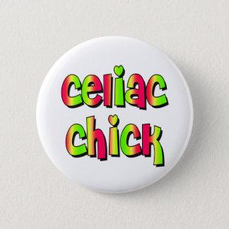 Badge Rond 5 Cm Poussin coeliaque