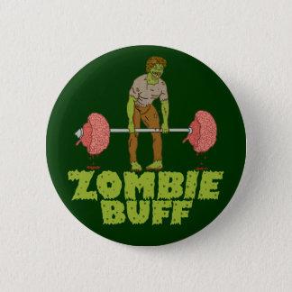 Badge Rond 5 Cm Poussoir de poids drôle de cuir épais de zombi