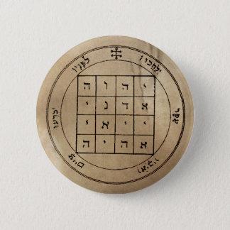 Badge Rond 5 Cm Premier pentagramme de bouton de Saturn