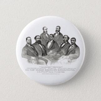 Badge Rond 5 Cm Premiers sénateur et représentants colorés