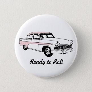Badge Rond 5 Cm Préparez pour rouler la voiture vintage
