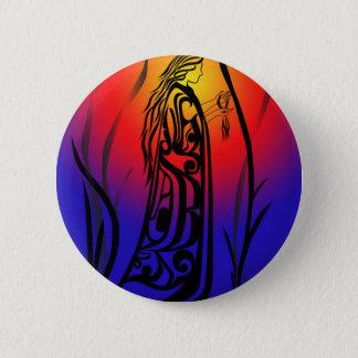 Badge Rond 5 Cm Prières de lever de soleil de femme de médecine