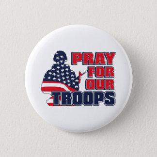 Badge Rond 5 Cm Priez pour nos troupes