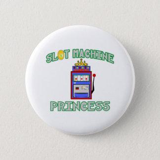 Badge Rond 5 Cm Princesse de machine à sous (diadème)