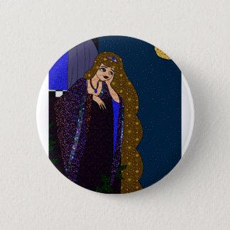 Badge Rond 5 Cm Princesse de tour