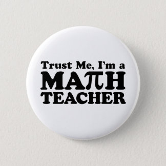 Badge Rond 5 Cm Professeur de maths