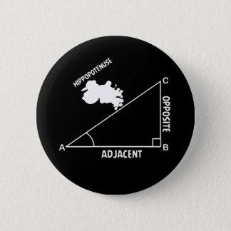 Badge Rond 5 Cm Professeur de maths de triglycéride d'hippopotame
