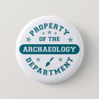 Badge Rond 5 Cm Propriété du département d'archéologie