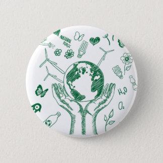 Badge Rond 5 Cm Protégez l'environnement