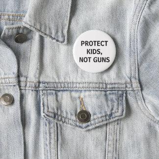 Badge Rond 5 Cm protégez les enfants, pas armes à feu