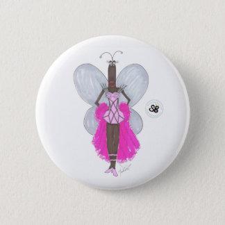 Badge Rond 5 Cm Pseudo bouton de mode de Geo de rose en pastel de