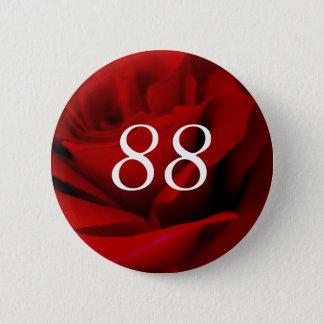 Badge Rond 5 Cm quatre-vingt-dix-huitième Anniversaire