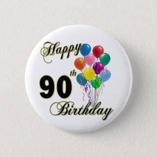 Badge Rond 5 Cm Quatre-vingt-dixième cadeaux d'anniversaire et