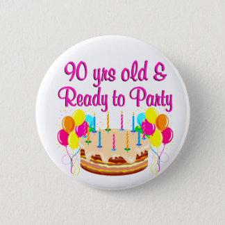 Badge Rond 5 Cm quatre-vingt-dixième FILLE de PARTIE