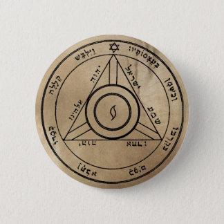 Badge Rond 5 Cm Quatrième pentagramme de bouton de Saturn