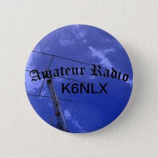 Badge Rond 5 Cm Radio et indicatif d'appel amateurs
