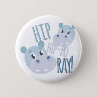 Badge Rond 5 Cm Rayon d'hippopotame de hanche