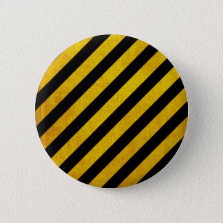 Badge Rond 5 Cm Rayure grunge de risque