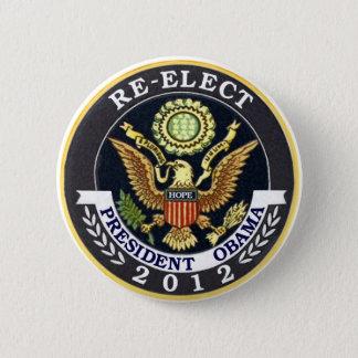 Badge Rond 5 Cm Réélisez Obama