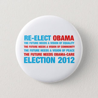 Badge Rond 5 Cm Réélisez Obama 2012