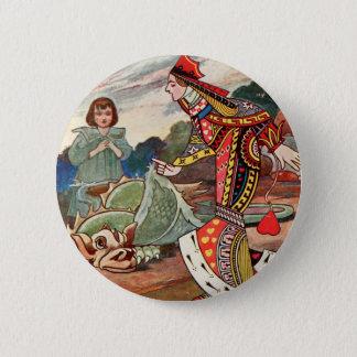 Badge Rond 5 Cm Reine des coeurs et du Gryphon