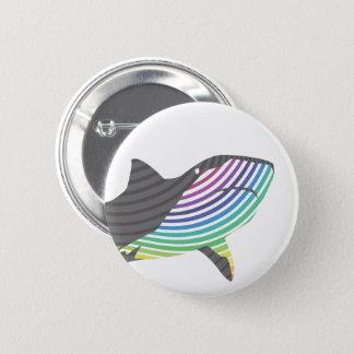 Badge Rond 5 Cm Remous de requin de couleur