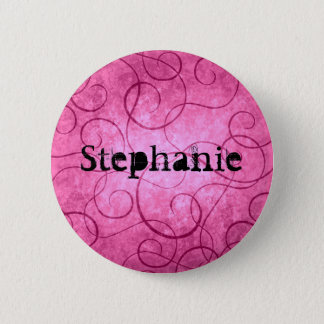 Badge Rond 5 Cm Remous girly roses