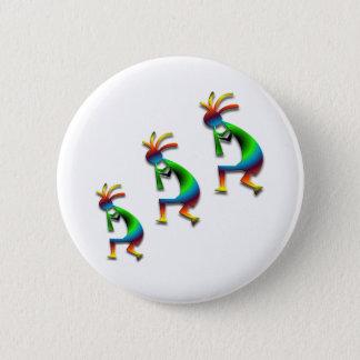 Badge Rond 5 Cm Remous vert Kokopellis