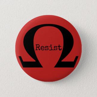 Badge Rond 5 Cm Résistez au bouton (rouge)