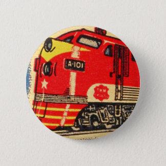 Badge Rond 5 Cm Rétro art vintage de pochette d'allumettes de
