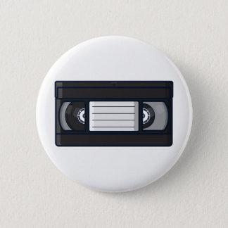 Badge Rond 5 Cm Rétro - bouton de bande de VHS