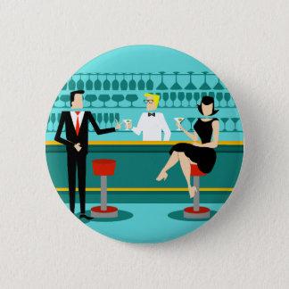 Badge Rond 5 Cm Rétro bouton de couples de salon de cocktail