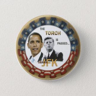 Badge Rond 5 Cm Rétro bouton d'Obama/JFK