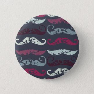 Badge Rond 5 Cm Rétro copie affligée de moustache