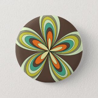Badge Rond 5 Cm rétro hippie flower power de ressort des années 70