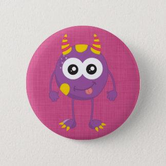 Badge Rond 5 Cm Rétro monstre pourpre mignon