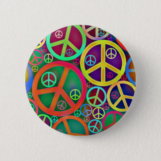 Badge Rond 5 Cm Rétro paix de cru de mod