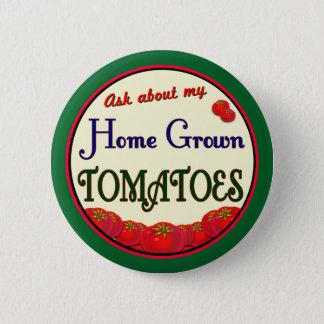 Badge Rond 5 Cm Rétro slogan Pinback de jardinier de tomate du cru